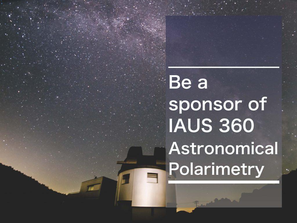 Be a sponsor pf IAUS 360